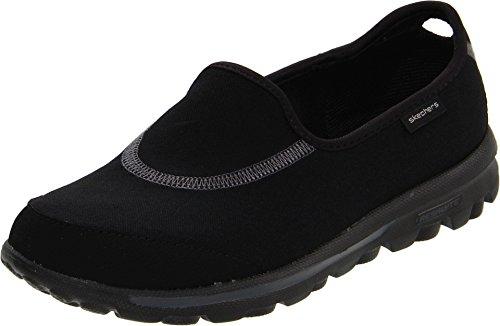 Skechers Performance Women's Go Walk Slip-On Walking Shoes, Black, 5 M US