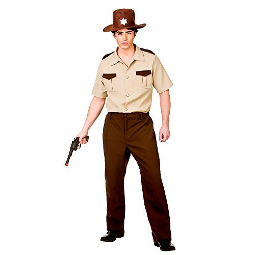 US Sheriff The Walking Dead Rick Grimes Zombie Hunter Fancy Dress Costume Halloween Outfit (Men: Small) by Fancy Pants Party (Male Halloween Outfits)