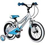 "Cuda Blox 14"" Boys Bicycle 4-6 Yrs Aluminium Silver/ Blue"