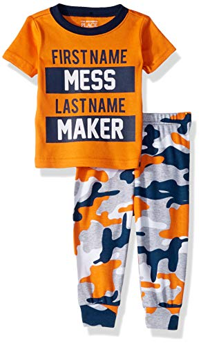- The Children's Place Baby Boys Short Sleeve Printed Pajama Pant Set, Carrot Stick, 4T
