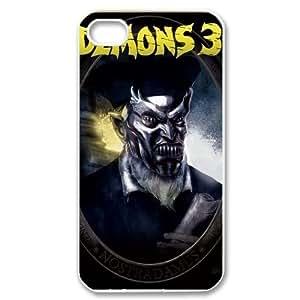 Demons iPhone 4 4S White Phone Case Maverick Fantasy Funny Terror Tease Magical YHNL797813239 Kimberly Kurzendoerfer