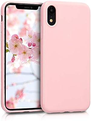 kwmobile Funda para Apple iPhone XR - Carcasa para móvil en [TPU Silicona] - Protector [Trasero] en [Rosa Oro Mate]