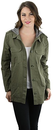 ToBeInStyle Womens Hooded Button Utility product image