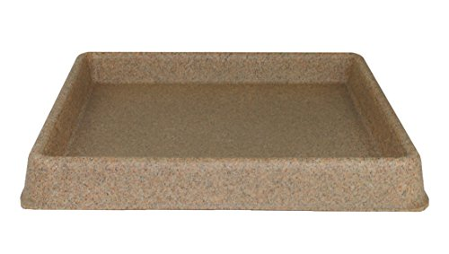 Tusco Products TRSQ11SS Square Saucer, 11-Inch, Sandstone by Tusco Products