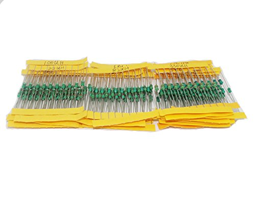 Haobase 25Value 250pcs DIP Inductor Assorted Kit 25 value 1uH to 1mH 0.25W