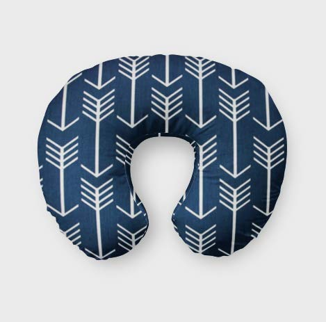 Nursing Pillow Cover in Navy Arrows by Twig + Bird - Handmade in America