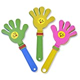 Party Favors Clapper Hands Noisemaker 10.8 inch for Concert Sports Games 3 Pieces Mix Color