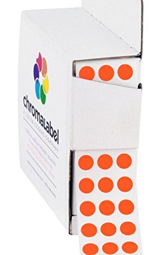 "1/4"" Fluorescent Red Orange Color-Coding Dot Stickers - Permanent Adhesive, 0.25 in. — 1,000 Labels per Dispenser Box"