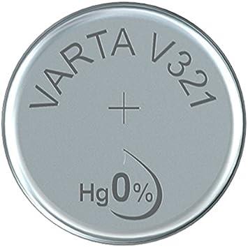 Varta 14501321 Silberoxid Knopfzelle V321 1er Pack Silber