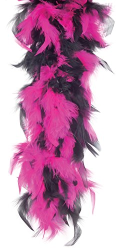 Loftus International Star Power Long Fluffy 2-Color Feather Boa Pink Black One-Size (72