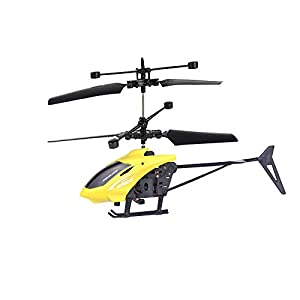 HUHU833(TM) RC Flying Toy,RC Infrared Helicopter,Infrared Sensor Flight Aircraft,Led Glowing Decorations Airplane Toys…
