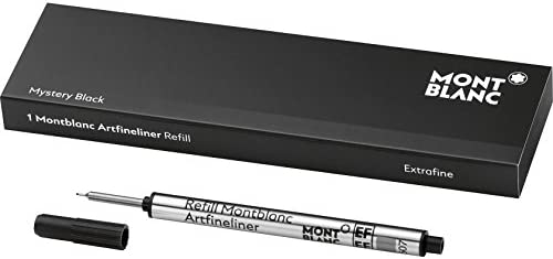 Montblanc Artfineliner Refill EF Mystery Black 114293 - Fineliner Refill with an Extra Fine Tip for Precise Drawings - 1 x Refill Cartridge