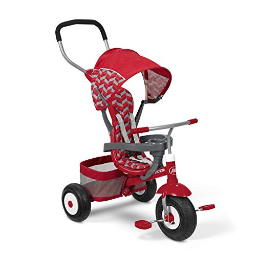 Radio Flyer All-Terrain Stroll 'N Trike Stroller Trike, Red ()