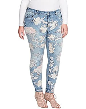 Plus Size Kiss Me Skinny Embroidered Jeans