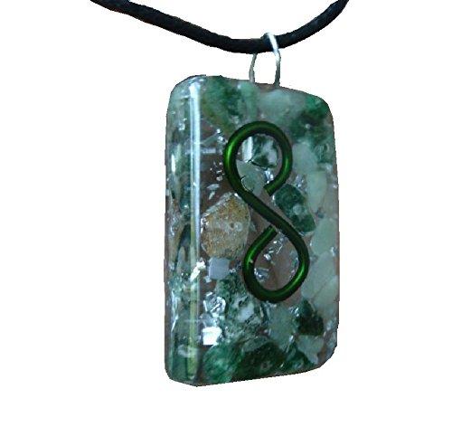 Infinite Prosperity - Orgone Pendant - Green Aventurine, Emerald, Moss Agate, Rutilated Quartz, Tree Agate