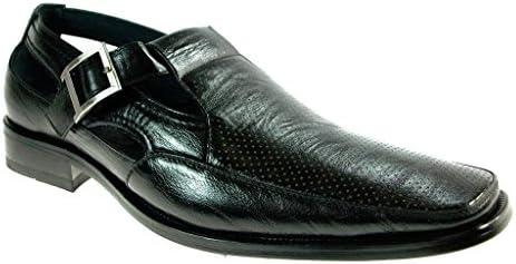 Delli Aldo Men's 21006 Closed Toe Dress Sandal Shoes