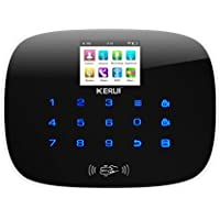 KERUI W193 Wireless 3G WIFI GSM PSTN Touch Keypad Smart Home Security Burglar Alarm System Host, RFID Card APP Remote Control Auto Dial,Black
