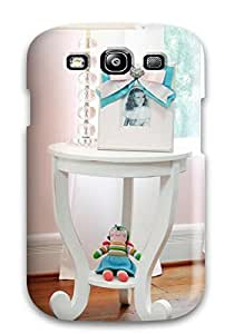 New Style DustinHVance White Side Table And Lamp In Girl8217s Pink Nursery Premium Tpu Cover Case For Galaxy S3