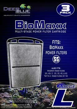 Filter Cartridge 3pk - Biomaxx 55 (lg) Filter (Cartridge 3pk Large Box)