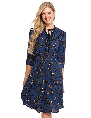Printed Chiffon Long Dress - 8