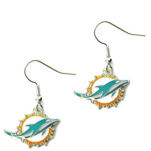 aminco Miami Dolphins Dangle Logo Earring Set Charm Gift