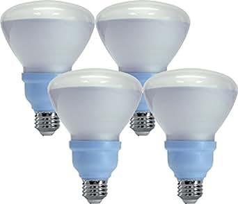 GE Reveal CFL 65-Watt, 660 Lumens, R30 Floodlight Bulbs with Medium Base (4 Bulbs)