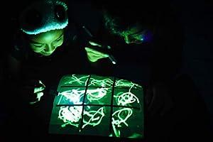 Funda de Almohada iluminada para Ropa con Dibujo Brillante Brillante en la Oscuridad