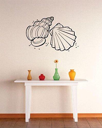 Vinyl Wall Decal Sticker : Sea Shells Ocean Image Bedroom Bathroom Living  Room Picture Art Peel