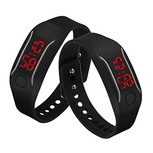 Malltop LED Watch, Unisex Silicone Bracelet Water Resistant Running Sports Wrist Watch