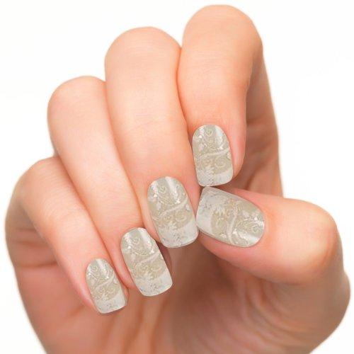 GURAIO 24pcs Set Acrylic False Nail Tips French Full Nails Art Free Glue