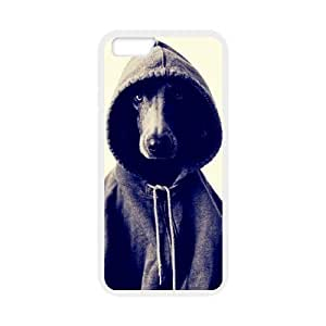 Black and White Photograph Animal Series Fashion Dog Design Hot Custom Luxury Cover Case For Iphone 6 Plus (5.5inch)(White) with Best Plastic ALL MY DREAMS by ruishername