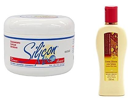 Combo Silicon Mix 8oz + Bio Extratus Creme De Silicone Com Tutano 250ml