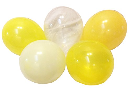 Yellow Lemon Butter Cream Assorted Mixed YELLOW 13 Inch Rubber Latex Party Balloons for Wedding Bridal Baby Shower Special Event (50 pcs)