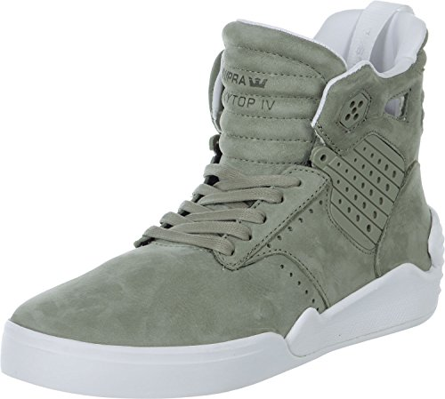Scarpe Uomo Nero Bianco Supra Skytop Sneakers Men Laurel Shoes S99019-41