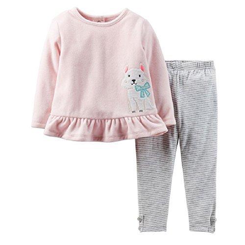 Carter's Baby Girls 2-Piece Microfleece Top & Legging Set (24 Months, Pink - Puppy Dog) 2 Piece Microfleece Set