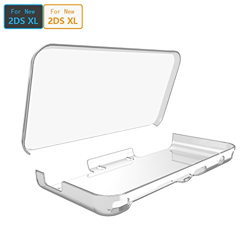 ADVcer New 2DS XL Cover Case, Anti-Scratch Crystal Clear Hard Shell Skin for New Nintendo 2DS XL LL 2017 Protection (Transparent) (Case Green Skin Hard)