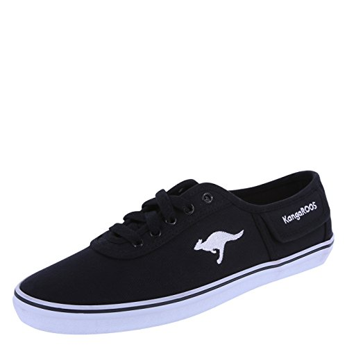 KangaROOS Black Canvas Women's Vivi Sneaker 5 Regular
