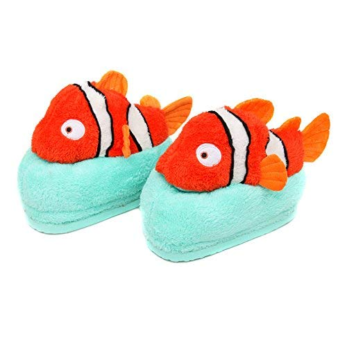 1 JaHGDU Ladies Casual Cartoon Cute Amphiprion Nigripes Pattern Cotton Slippers Home Keep Warm in Winter and Autumn Wild Stylish Slippers