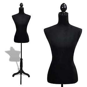 Xinglieu Busto de Mujer maniquí Femenina Negro Modelo Summer ...