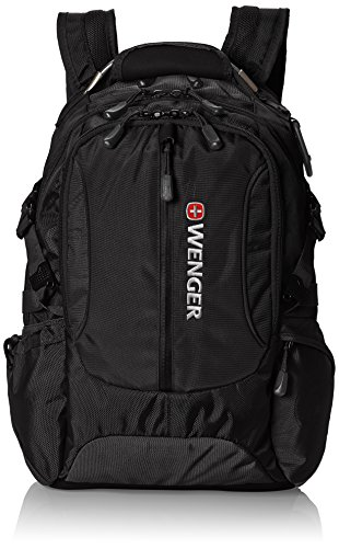 Black Wenger Swiss (Wenger SA1537 Black Laptop Computer Backpack - Fits Most 15 Inch Laptops and Tablets)