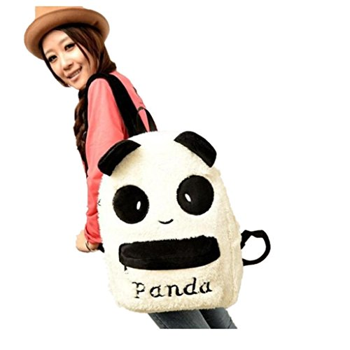 aribelly-furry-zippers-bag-panda-backpack-cute-bag-purse-animal-soft-ears-pom-poms-panda