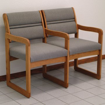 DMD Lobby Seats, Office and Waiting Room Two Seat Chair w...