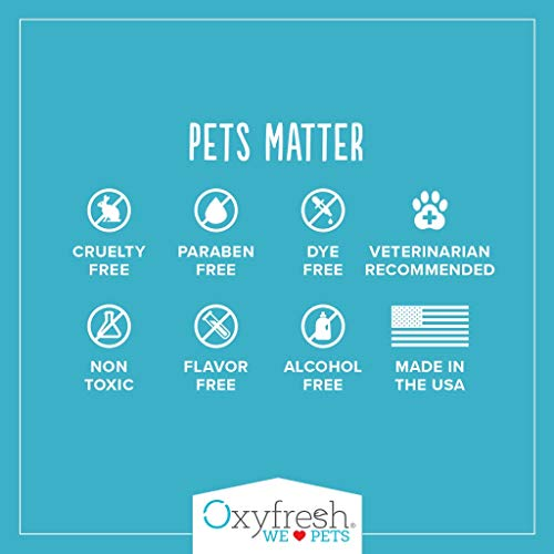 Oxyfresh Premium Pet Dental Care Solution (16oz): Best Way To Eliminate Bad Dog Breath & Cat Breath - Fights Tartar, Plaque & Gum Disease! - So easy, just add to water! Vet Recommended! by Oxyfresh (Image #6)