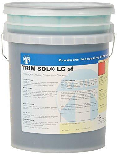 - TRIM Cutting & Grinding Fluids SOLLCSF/5 General Purpose Emulsion, Nonchlorinated, Siloxane Free, 5 gal Pail