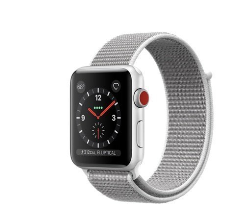 Series Personal Gps - Apple Watch Series 3 42mm Smartwatch (GPS + Cellular, Silver Aluminum Case, Seashell Sport Loop Band) (Refurbished)