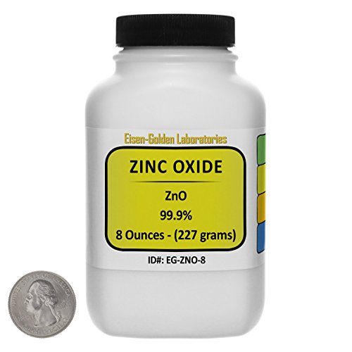 - Zinc Oxide [ZnO] 99.9% ACS Grade Powder 8 Oz in a Space-Saver Bottle USA