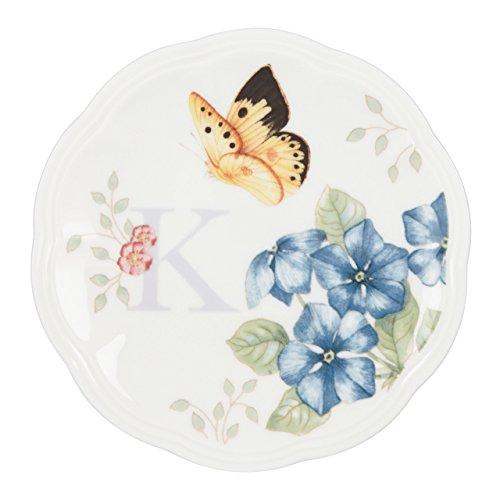 Lenox Butterfly Meadow Dish Initial K