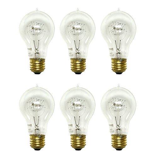 Satco S2411 25W 120V Quad Loop Filament Indoor Vintage Incandescent Bulb, 6-Pack