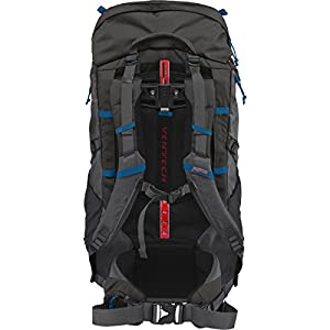 "JanSport Mens Outdoor Mainstream Klamath 55 Backpack - Forge Grey/Moroccan Deep / 29""H X 14""W X 10.5""D"