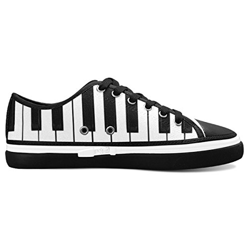 D-Story Custom Piano Keybord Women's Nonslip Canvas Shoes Fashion Sneaker (Piano Custom)